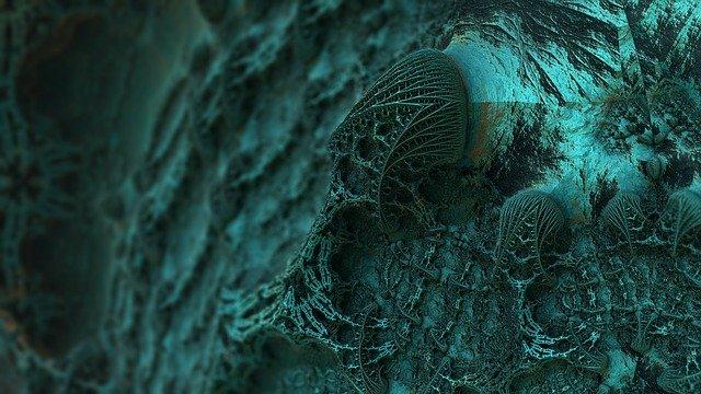 mnohonásobně zvětšený obrázek plísně