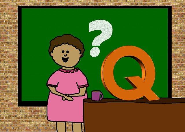 učitelka před tabulí ilustrace