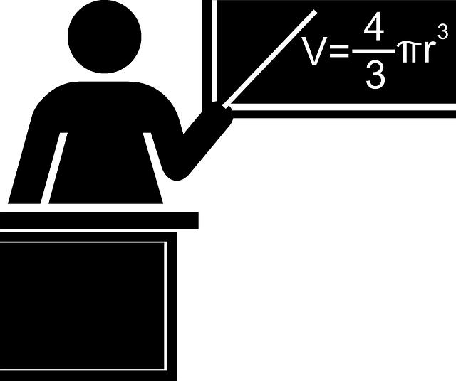 učitel a matematický vzorec
