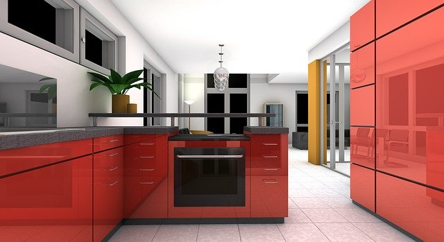 červená kuchyn