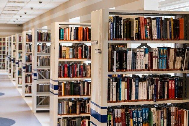 cestička v knihovně